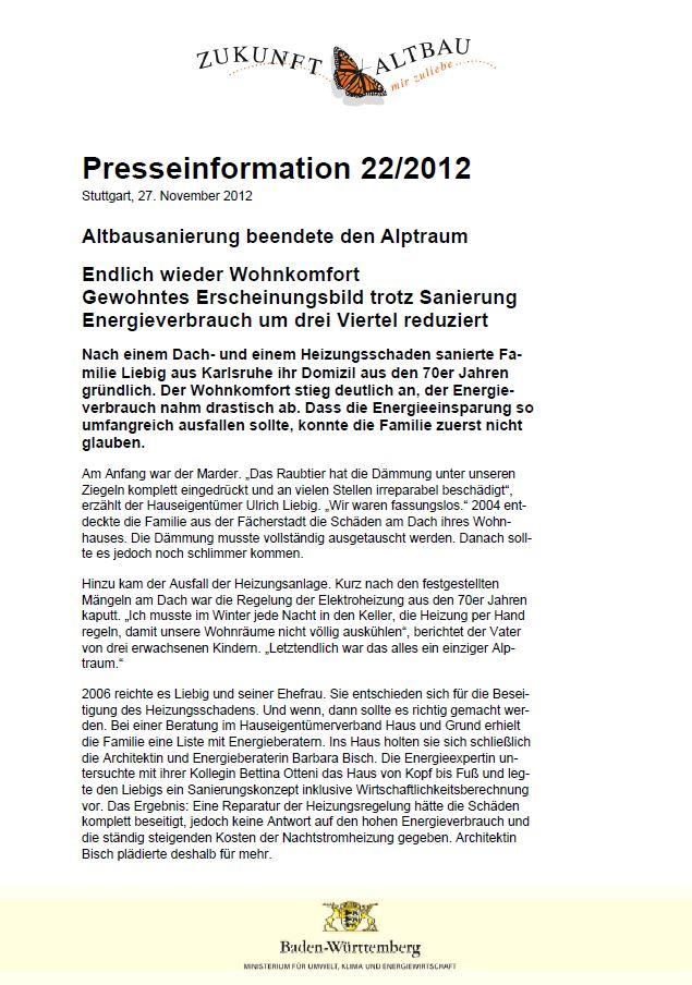 Pressemitteilung UBA