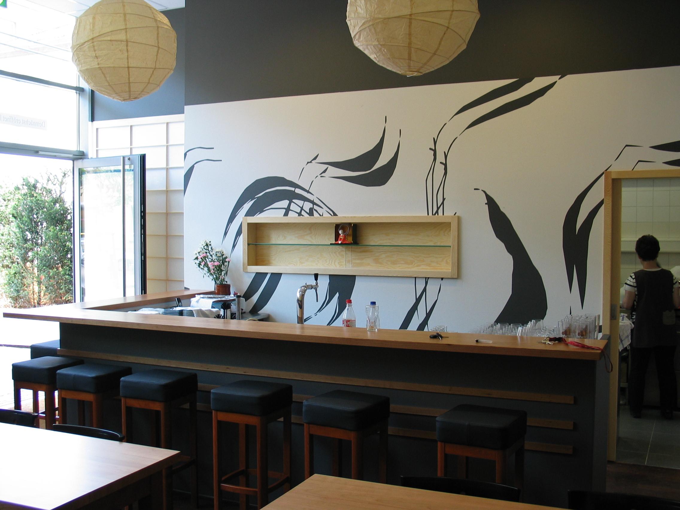 Theke, Japanisches Restaurant Niko Niko Tei, Mainz