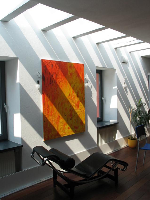 Wohnzimmer mit Oberlicht