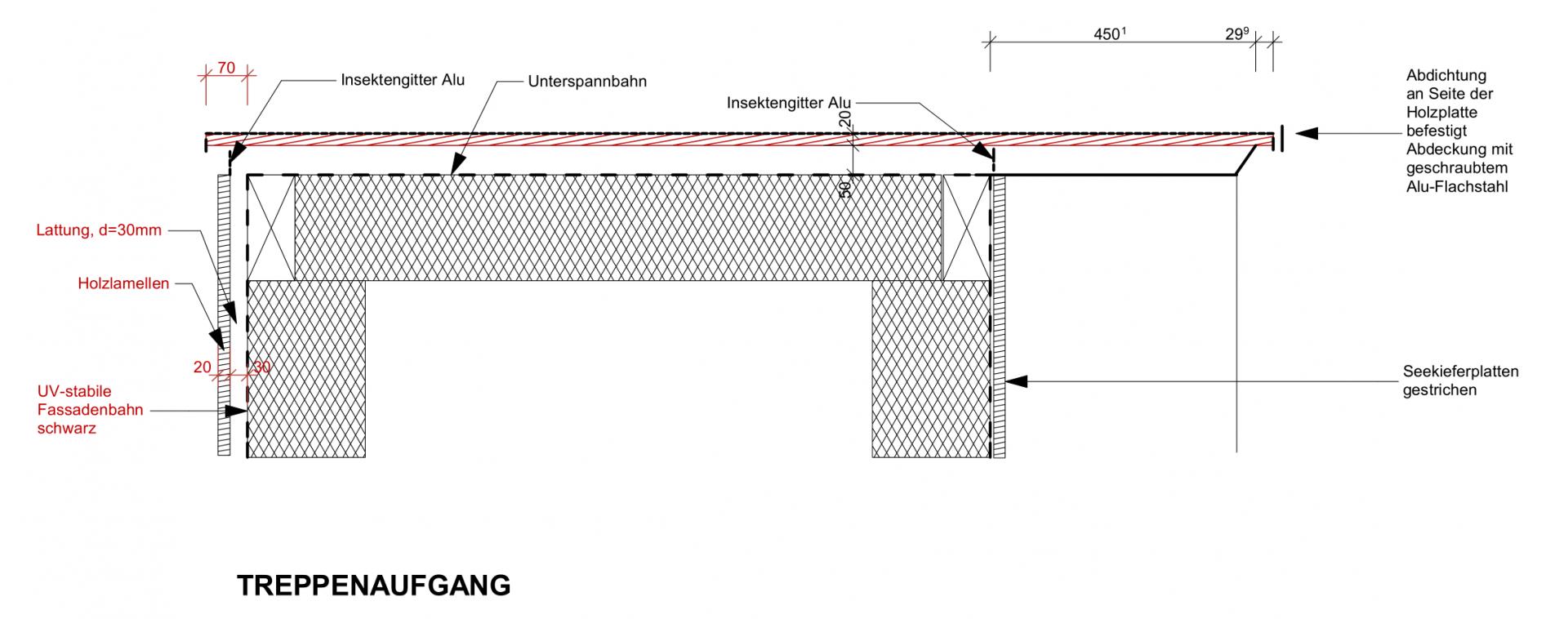 Treppenaufgang Detailplan