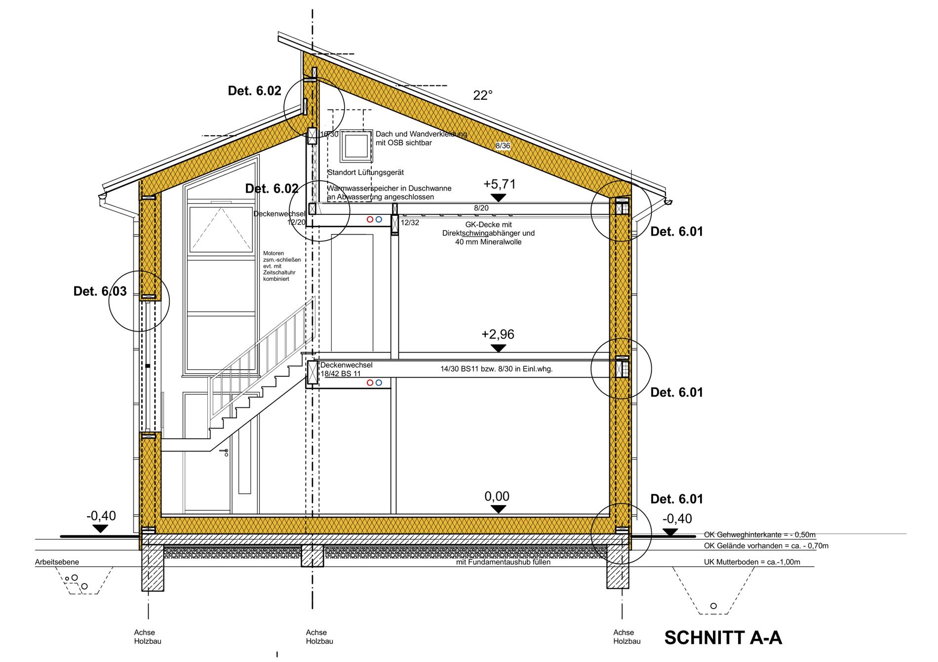 Plan Passivhaus Schnitt