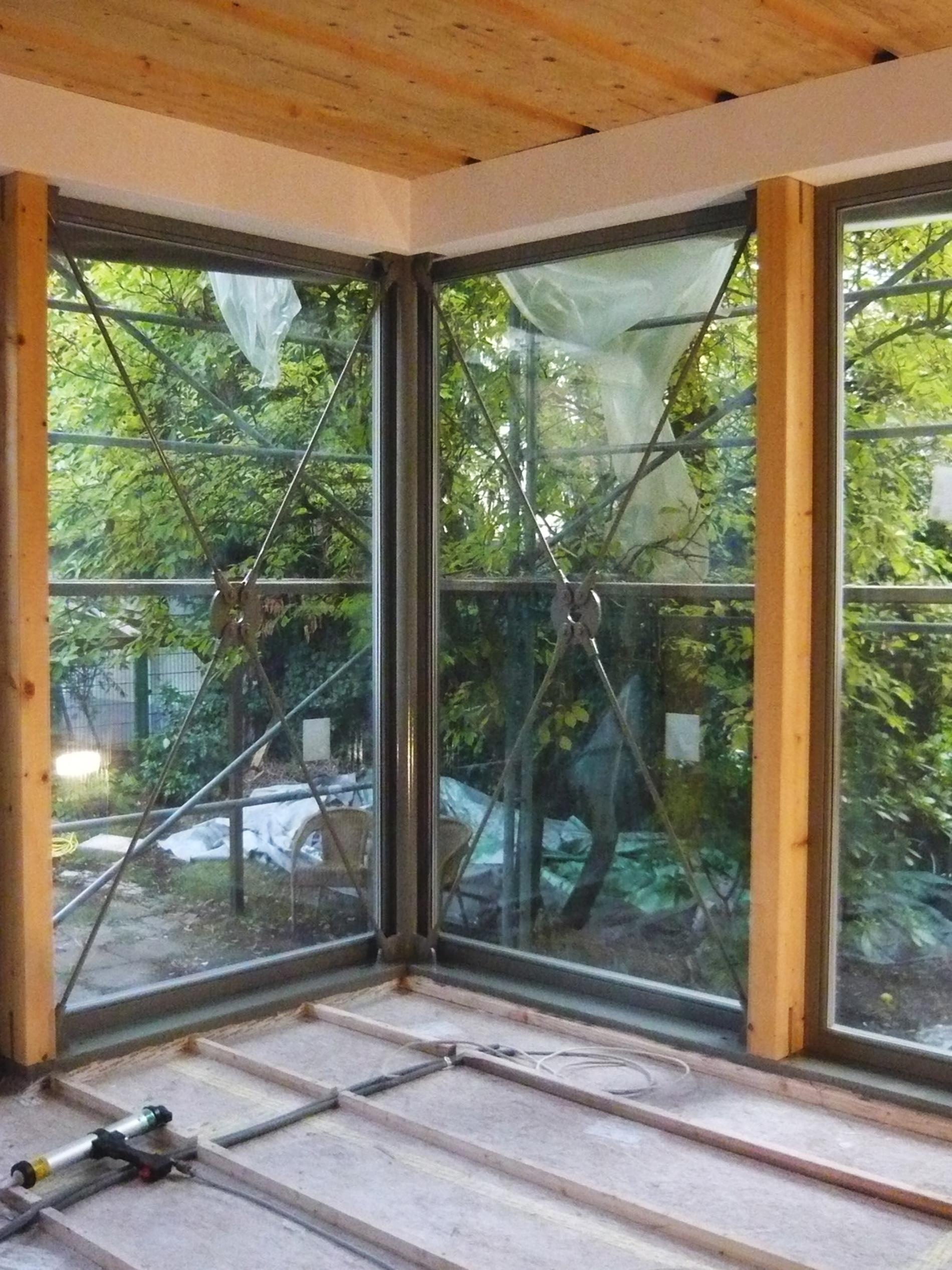 Eckfenster innenansicht  Hinterhofgebäude Neubau in Karlsruhe - Bisch . Otteni - Architekten