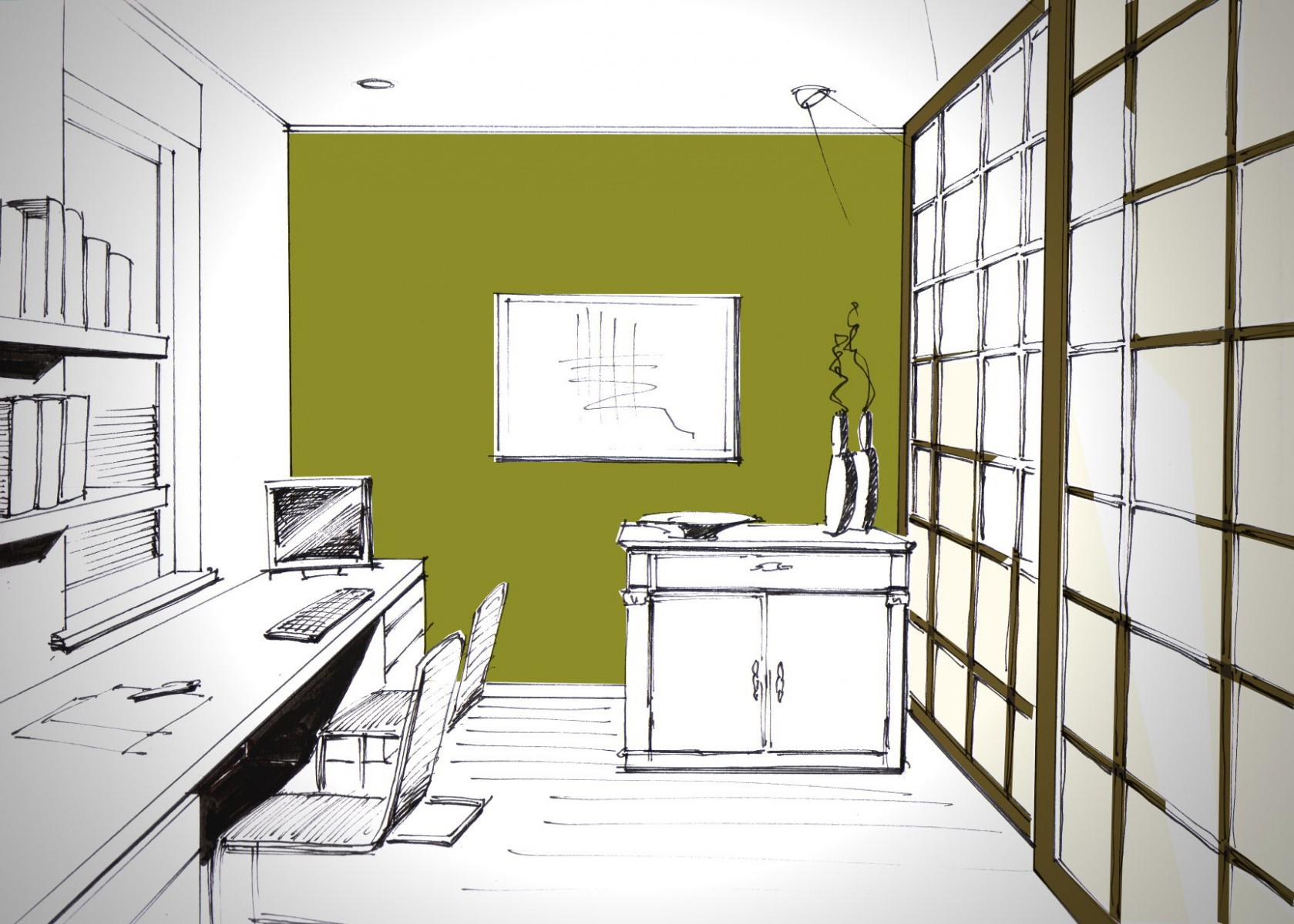 Innenarchitektur skizze wohnzimmer  Wohnraumberatung - Bisch . Otteni - Architekten